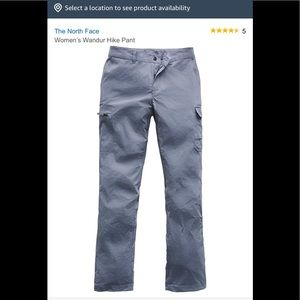 Grey-the North Face hiking pants(size 6)